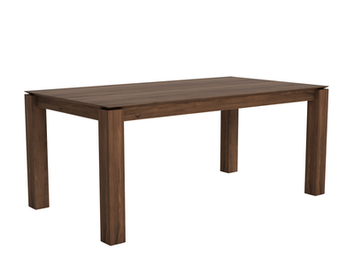 Amazing Ethnicraft Slice Extendable Dining Table Walnut Ncnpc Chair Design For Home Ncnpcorg