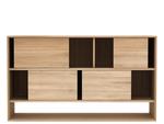 Ethnicraft oak Nordic book rack low