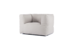 Bryck Chair 1 zits in color WHITEbroken