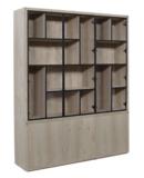 puur versprongen vakken glaskast deuren vermeer meubelen maatwerk