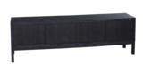stoer tv meubel opzet zwart metaal vermeer maatwerk