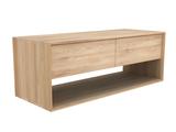 Ethnicraft oak Nordic tv cupboard 1 flip down deur / 1 lade