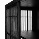 Ethnicraft Oak Burung sideboard high–4 sliding doors