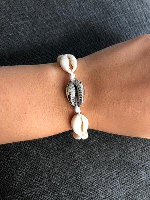 Joyjewelleryy armbandje white silver beach