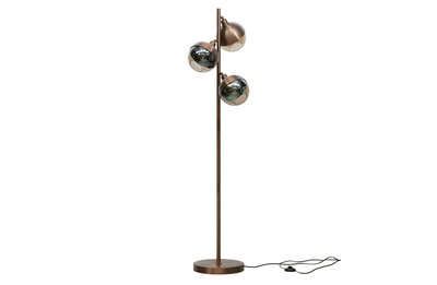 BePureHome: Split staande lamp metaal brown brush