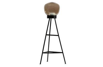 BePureHome: Dome staande lamp glas zwart