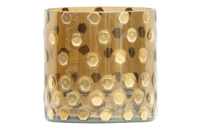 BePureHome: Shimmer glazen licht antique brass ø10cm
