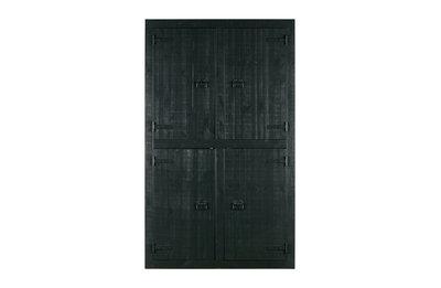 VTWonen Bunk 4 deurs kast grenenhout mat zwart