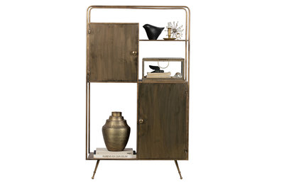 BePureHome Chief vakkenkast metaal antique brass