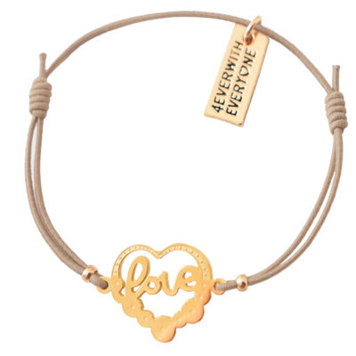 4everwitheveryone armbandje: love in hartje