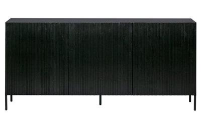 WOOOD Gravure dressoir grenen zwart