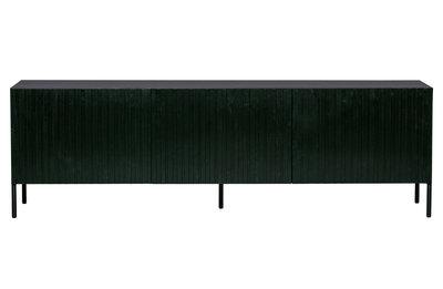 WOOOD Gravure tv meubel grenen zwart