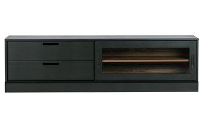 WOOOD James tv-meubel noten/zwart