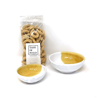 Taste of Puglia cadeaupakket Tarallipakket geel