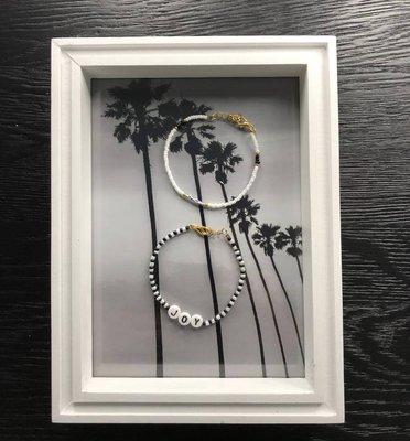 Jewelz By Joya armbanden set van 2 Joy zwart wit