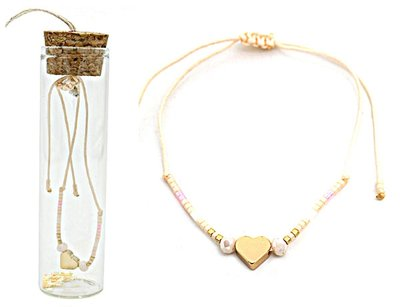 Jewelz by Joya armband Gift in glazen fles met kurk natural harts
