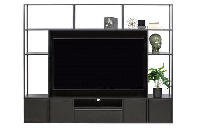 Toby tv wandmeubel metaal/mdf zwart