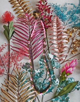 Jewelz by Joya gold & pink necklace