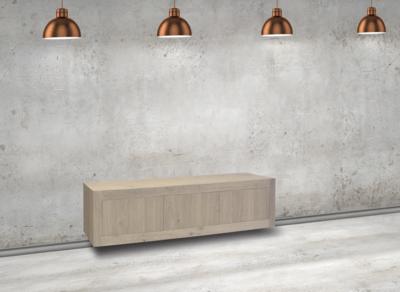 Maatwerk TV meubel Helder 3 deuren met hangsysteem