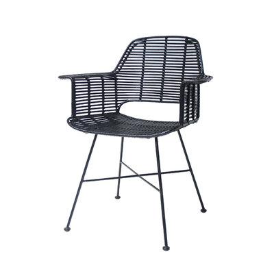 HKliving rattan tub chair black