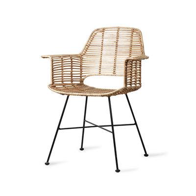 HKliving rattan tub chair natural