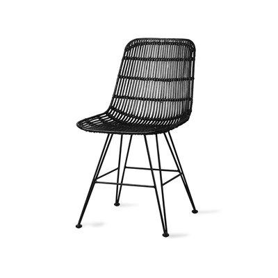 HKliving rattan dining chair black