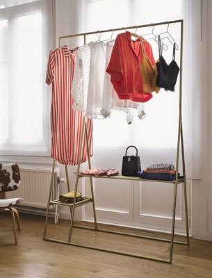 HKliving brass clothing rack