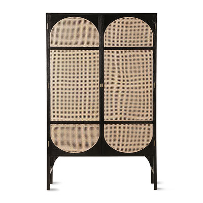 HKliving retro webbing clothing cabinet black