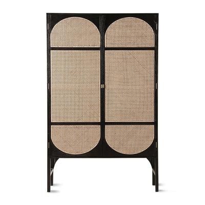 HKliving retro webbing clothing cabinet black