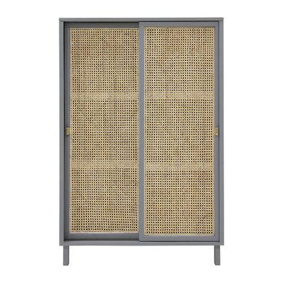 HKliving webbing sliding door cabinet grey