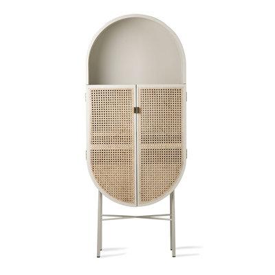 HKliving retro oval cabinet light grey