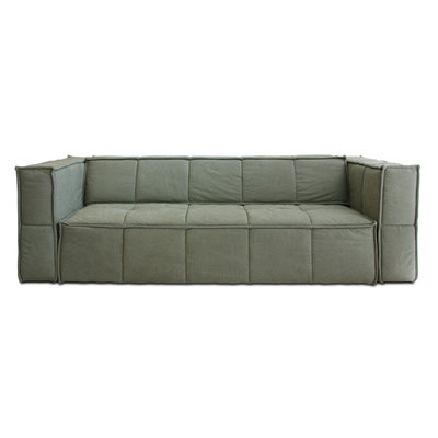 HKliving cube couch 4 seats canvas army green