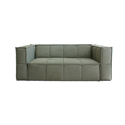 HKliving cube couch 3 seats canvas army green