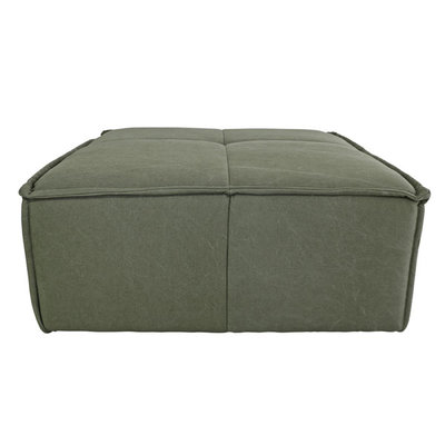 HKliving cube couch hocker canvas army green
