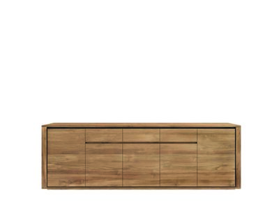 Ethnicraft: Elemental cupboard 5 doors 3 drawers