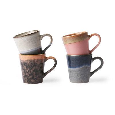 HKliving ceramic 70's espresso mugs (set of 4)