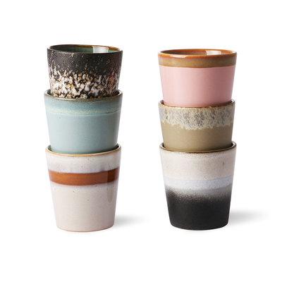 HKliving ceramic 70's mugs (set of 6)