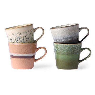 HKliving ceramic 70's cappuccino mugs (set of 4)
