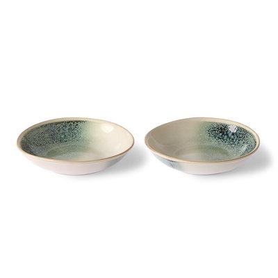 HKliving 70s ceramics: curry bowls, mist (set of 2)