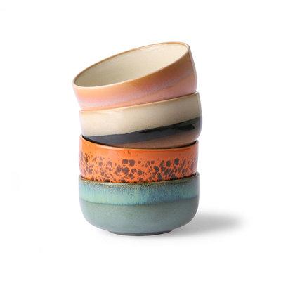 HKliving 70s ceramics: dessert bowls (set of 4)