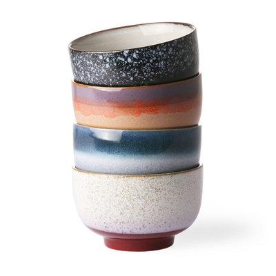HKliving 70s ceramics: noodles bowls (set of 4)