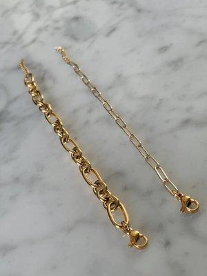 Jewelz By Joya armbandje goudkleurige schakels