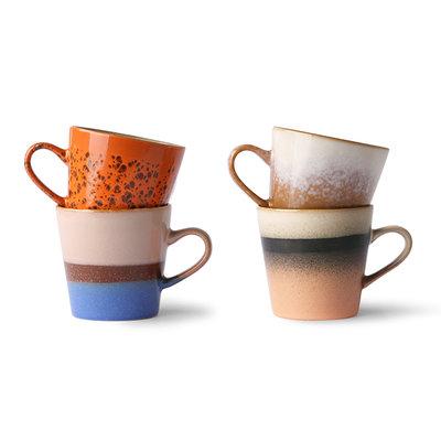 HKliving 70s ceramics: americano mugs (set of 4)