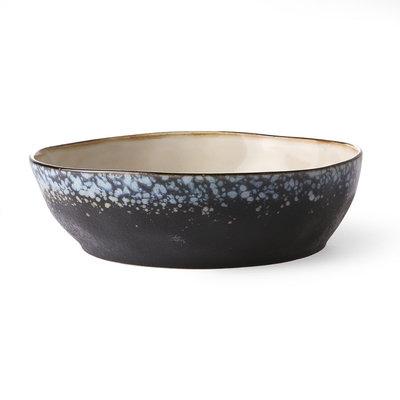 HKliving 70s ceramics: pasta bowls, galaxy (set of 2)