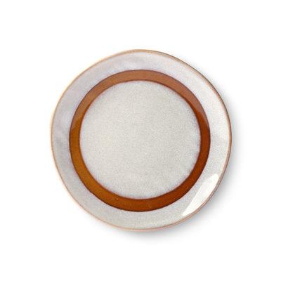 HKliving 70s ceramics: dessert plates, snow (set of 2)
