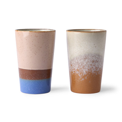 HKliving 70s ceramic: tea mugs (set of 2)