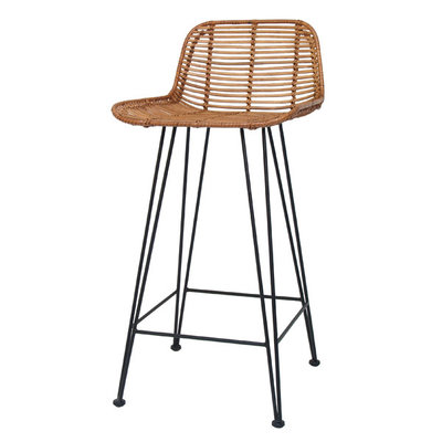 HKLiving Rattan Bar stool natural