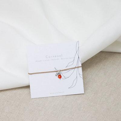 Jaylaa Jewelry - Carneool armbandje