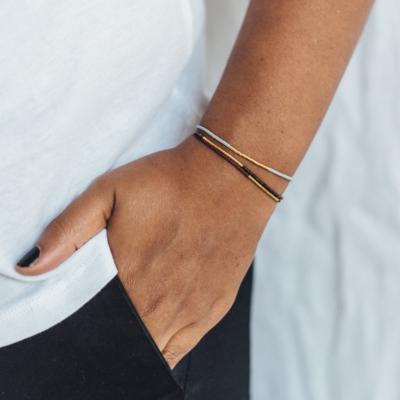Jaylaa Jewelry - Matt espresso gold armbandje
