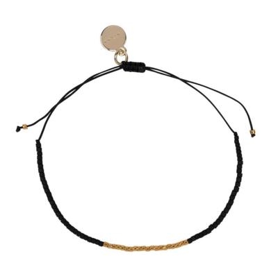 Jaylaa Jewelry - Matt black/gold armbandje